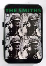 THE SMITHS MEAT IS MURDER ARMY HELMET VEGAN MORRISSEY SMALL HINGED TIN MINT PILL