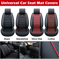 ✅ Universal Full Car Seat Covers Mat PU Leather Pad Breathable Cushion Pad Set