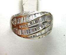 Vintage Estate 18k White Gold 2.00 ct. VS DIAMOND Wide ladies wedding band Ring