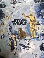 Star Wars Luke Skywalker Top Sheet Flat Full Size Pottery Barn Blue