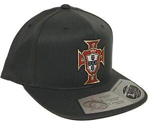 PORTUGAL  SOCCER  HAT DARK GREY FLEXFIT TECH 110 SNAP BACK FLAT BUILD NEW HAT
