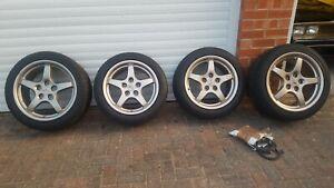 Corvette C5 full set of Magnesium Alloy Wheels with good tyres