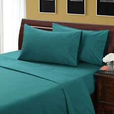 1000 Thread Count Silky BAMBOO COTTON Hybrid Blend Sheet Set SPLIT KING TEAL