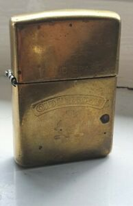Vintage Old Holborn Solid Brass Zippo 1932 - 1992 anniversary Lighter.