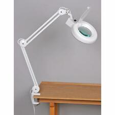 "Jewelers Magnifiers Lamp 38"" Swing Arm Fluorescent Light With Workbench Clamp"