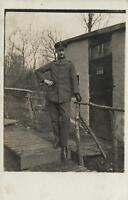 WWI GERMAN ARMY SOLDIER OFFICER MILITARY REAL PHOTO POSTCARD - UNUSED