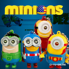 NEW Minions Movie Despicable Me LED Light and Sound Keychain - Avengers Set of 4