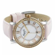 New KENNETH COLE NY Gold & Pink MOP Dial Leather Ladies Watch KC2845 RRP£115