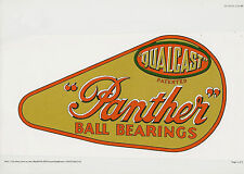 Qualcast Panther Vintage Mower Repro Chain Cover Decal