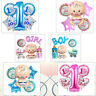 5pcs 1st Birthday Baby Shower Party Decoration Foil Balloon for Newborn Boy Girl