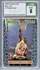 1992-93 Topps Stadium Club Beam Team #1 Michael Jordan Chicago Bulls CSG 8