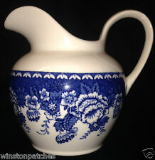 MASONS ENGLAND BLUE & WHITE CREAMER 14 OZ IRONSTONE FOR CRABTREE & EVELYN