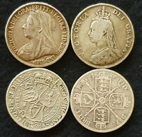 1887-1901 VICTORIA JUBILEE & VEILED HEAD FLORINS CHOOSE ACTUAL COIN SEE IMAGES