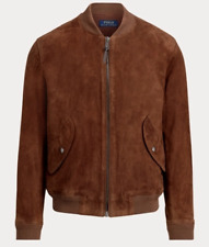 POLO RALPH LAUREN *Suede* Bomber Jacket (Large). Free Shipping!