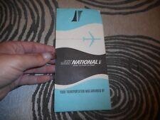 Vintage 1965 Jet National Airplane Ticket