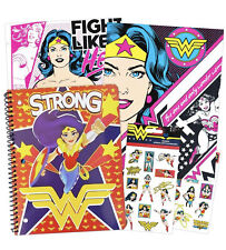 Wonder Woman School Supplies Value Pack - 2 Folders, Notebook, and Stickers