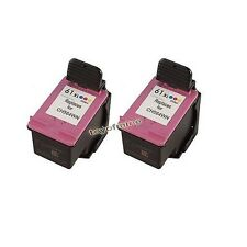 Paquet de 2 CC564WN encre couleur Cartouche d'impression pour HP 61XL 61 XL