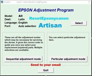 Reset Epson Artisan 730, 837, 710,810,TX730✅reset waste ink counter 100%🔥1Pc⭐⭐⭐