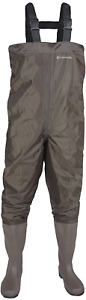 Compass 360 Windward PVC Chest Wader Size 10 Cleated Dark Brown