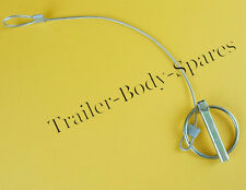 FREE UK Post 1 X  8mm Lynch Pin with Plastic Coat Cable - Brian James Trailers