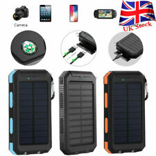 300000mAh Waterproof Solar Power Bank 2USB Battery Portable Chargers for Phone
