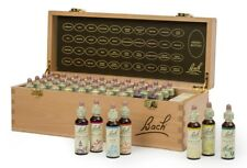 Nelson Bach complete Set 20ml Original Flower Remedies in hardwood box BBE 11/21