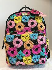 Betsey Johnson Donut Large Backpack Bag Weekender Quilted School Travel NWT