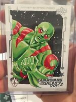 Guardians Of The Galaxy 2 Sketch Card by April Reyna - Drax