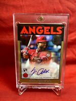 2021 86' Topps Baseball Autograph Jo Adell Auto Gold #/50 RC #86A-JAD Angels