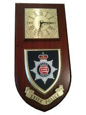 Essex Police Shield Wall Plaque Clock