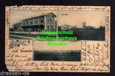 116922 AK Heufeld Bruckmühl 1901 Bahnhof Chem. Fabrik Reihenhäuser