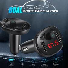 Handfree Blueteeth Dual Usb Car Charger Mp3 Music Player Fm Transmitter U Disk