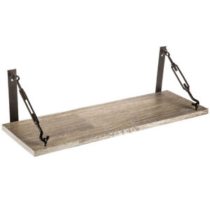 Industrial Barn wood Shelf Wall Mounted DESK Floating  Farmhouse Decor