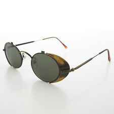 Side Shield Steampunk Goggle Sunglasses Vintage Antique Gold -Orson