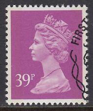 GB Stamps 1992 Machin Definitive 39p Bright Mauve, 2 Phos Bands, S/G X1022, VFU