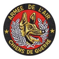 Écusson Patch brodé du Maître CHIENS DE GUERRE ARMÉE DE L'AIR - Diamètre 10 cm