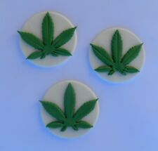 12 edible WEED LEAF cake topper decoration CUPCAKE cannabis hemp