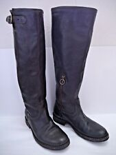 FIORENTINI + BAKER dark brown leather knee high boots Italian size 37