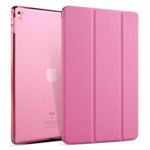 For iPad mini 1 2 3 4 5 6 Slim Leather Tri-Fold Flip Case Clear Back Full Cover
