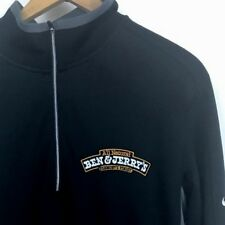 Ben & Jerry's Nike Dri-Fit Golf Shirt Small Quarter Zip LS Pullover Black Gray