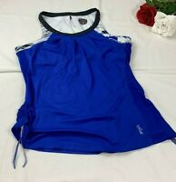 Bolle Women's Athletic Top Size XL Blue Cinch Sides Tank