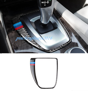 Real Carbon Fiber Gear Shift Box Panel Cover Trim For BMW 5 Series E60 2008-2010