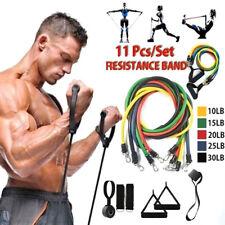 11PCS conjunto de bandas de resistencia Tire Cuerda Gimnasio en Casa Fitness Entrenamiento Crossfit Yoga Tubo