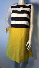 New Authentic 'S Max Mara shift white bars dress Sz 10 NWT stripe $650.00 Bin-U