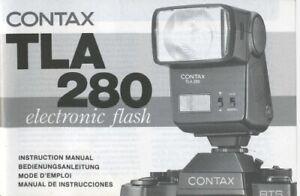 Contax TLA 280 Electronic Flash Instruction Manual multi-language Original
