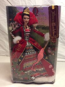 2007 ALICE IN WONDERLAND THE QUEEN OF HEARTS SILVER LABEL BARBIE - L5850
