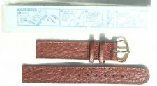 Brown Waterproof Leather Wristwatch Band Mint 1944 Us Army Textured