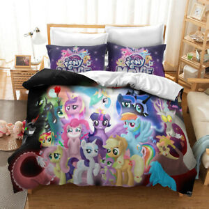 My Little Pony 3D Single/Double/Queen/King Bed Quilt Duvet Cover Set  F