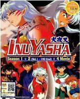 INUYASHA (SEASON 1+2) - COMPLETE ANIME TV SERIES DVD (1-193 EPIS + 4 MOVIE)