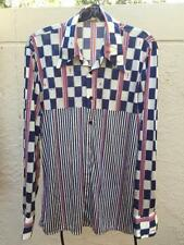 MENS 1970s NIK NIK CLUB DISCO LOUNGE NYLON FUNKY  SHIRT MADE IN ITALY SZ M